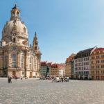Der Dresdner Neumarkt vor der Frauenkirche Dresden