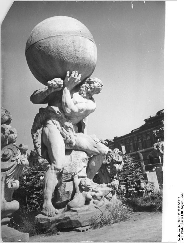 Hercules Saxonicus am Wallpavillon (Permoser)