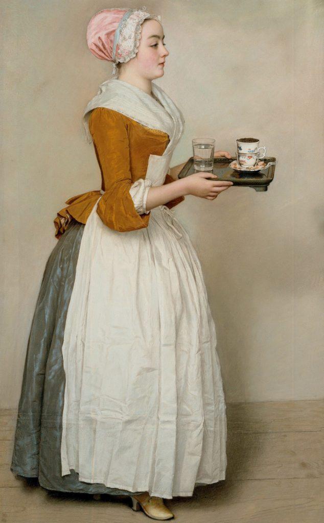 """Jean-Etienne Liotard - Pastell """"Das Schokoladenmädchen"""""""
