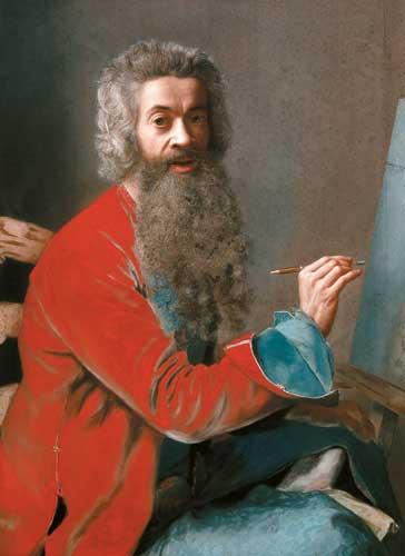 Jean-Etienne Liotard - Selbstbildnis mit Bart, entstanden 1749