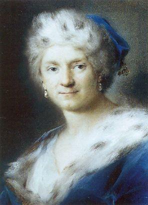 Pastellkabinett - Rosalba Carriera mit ihrem allegorischen Selbstporträt als Winter