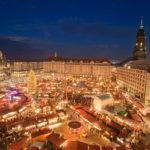 Striezelmarkt Dresden am Abend