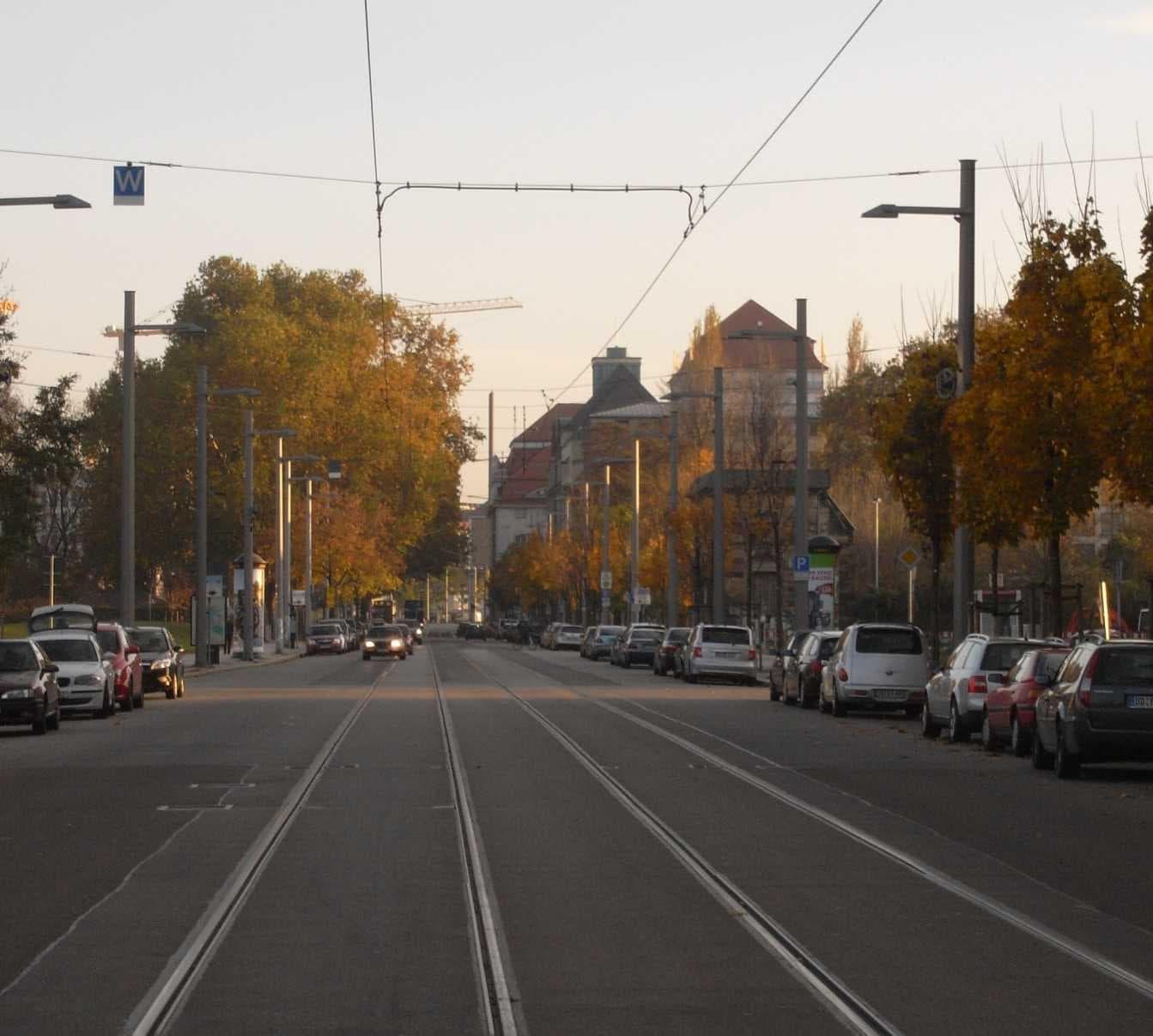 Ostra-Allee Dresden - Parkplatz Ostra-Allee