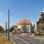 Pirnaischer Platz Dresden - Blick in die Wilsdruffer Straße