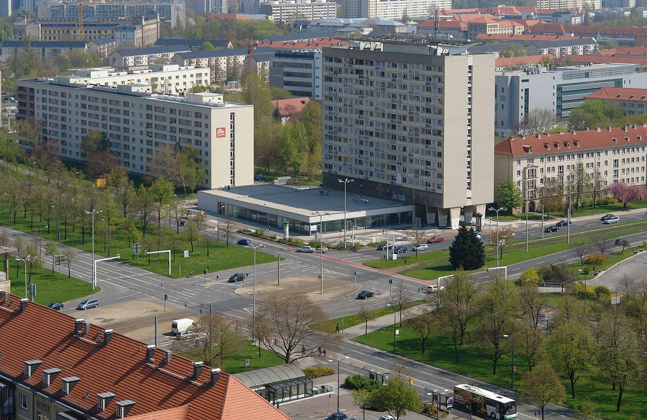 Pirnaischer Platz Dresden - Blick von oben auf die moderne Bebauung