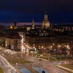 Pirnaischer Platz Dresden bei Nacht