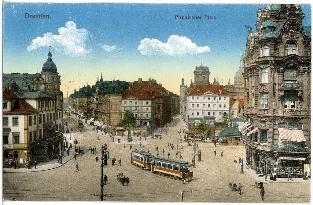 Pirnaischer Platz Dresden im Jahr 1915