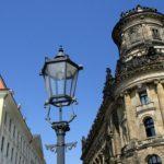 Schießgasse Dresden - Blick auf Landhaus (Stadtmuseum) und Polizeipräsidium