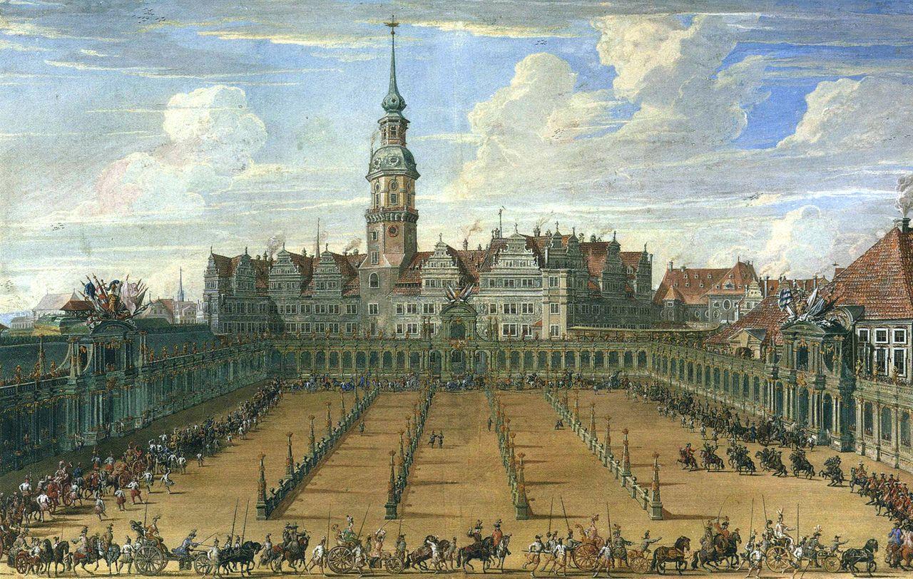 Der Zwinger Dresden im Jahr 1709