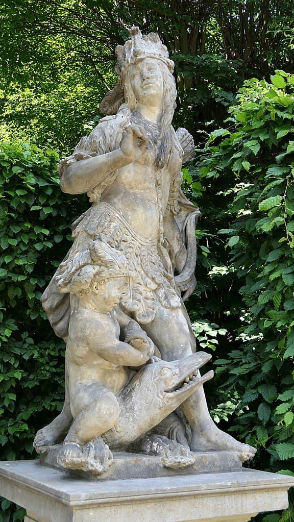 Barockgarten Großsedlitz Skulpturen - Amerika