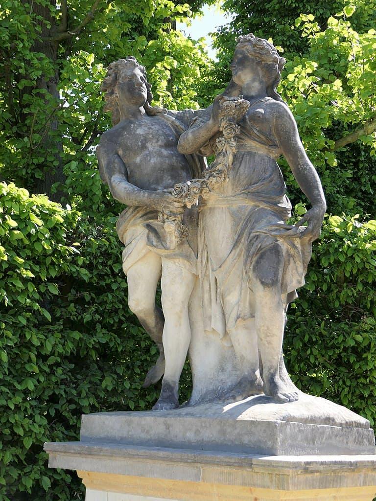 Barockgarten Großsedlitz Skulpturen - Amor und Psyche