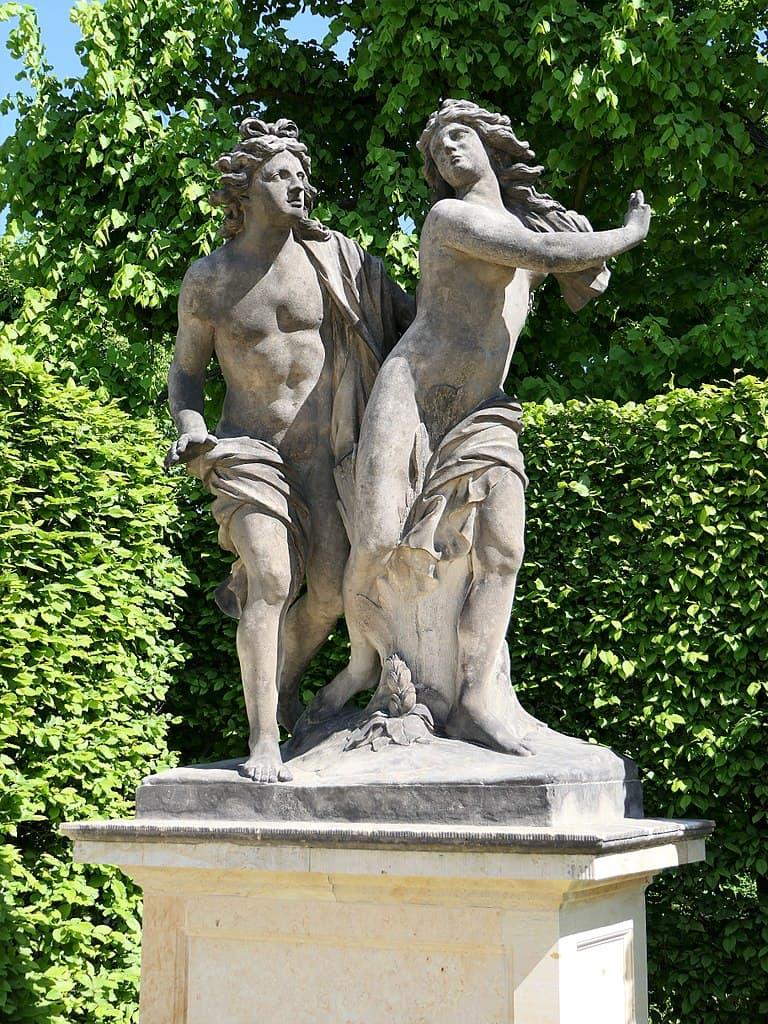 Barockgarten Großsedlitz Skulpturen - Apollo und Daphne