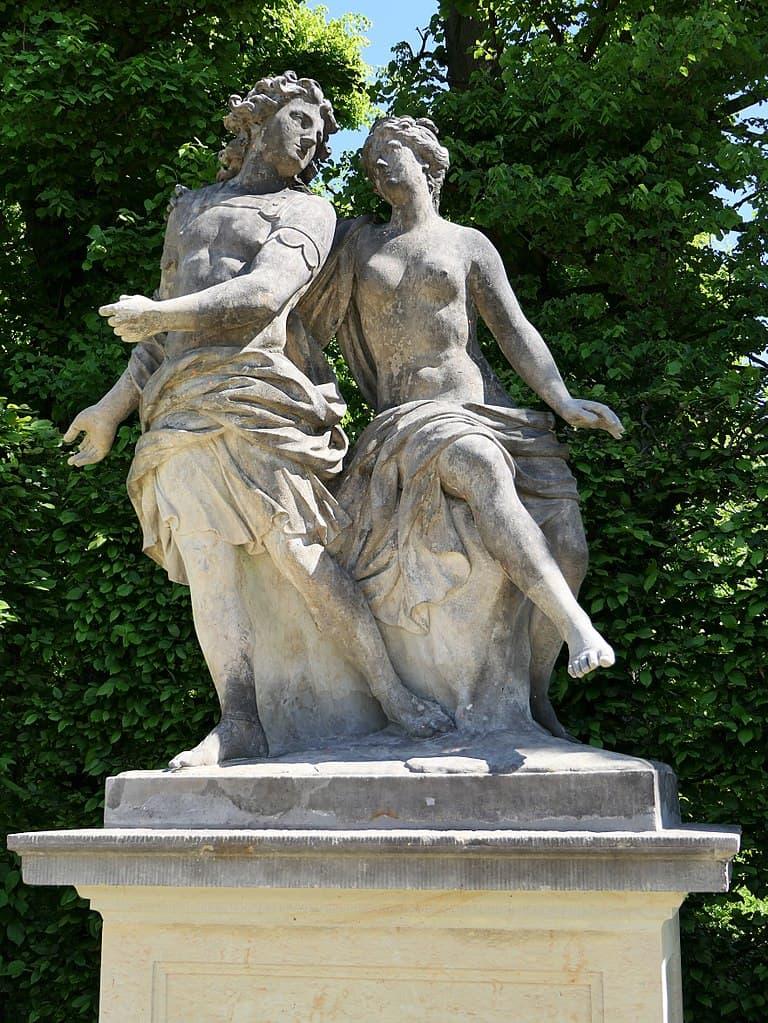 Barockgarten Großsedlitz Skulpturen - Ceyx und Alcyone