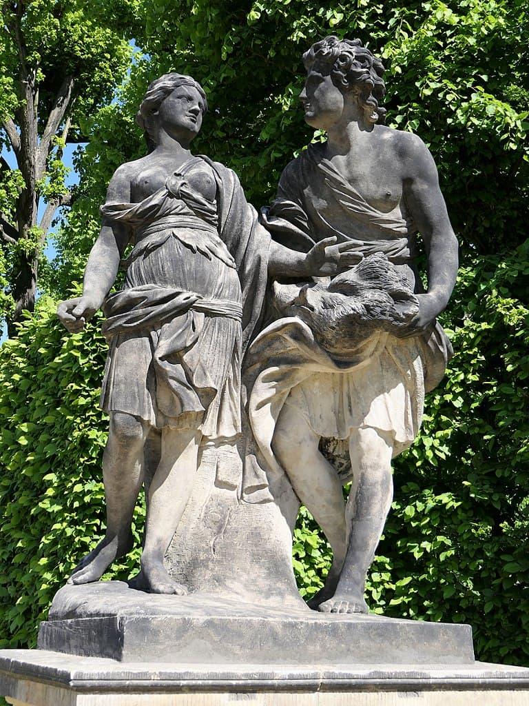 Barockgarten Großsedlitz Skulpturen - Meleager und Atalante
