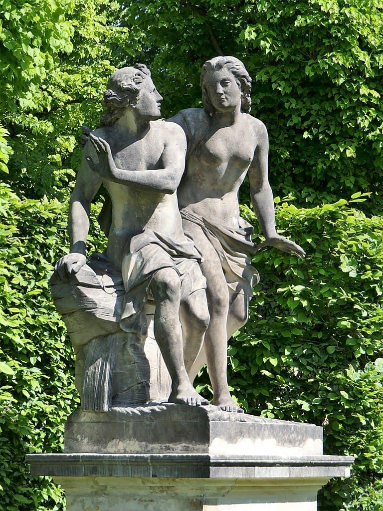 Barockgarten Großsedlitz Skulpturen - Narziss und Echo