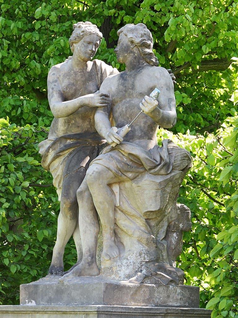 Barockgarten Großsedlitz Skulpturen - Orpheus und Euridice