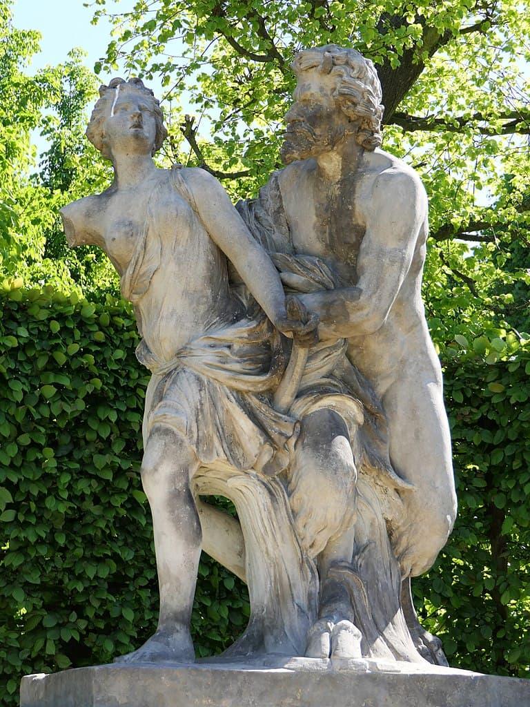 Barockgarten Großsedlitz Skulpturen - Pan und Syrix