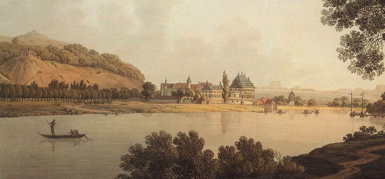 Schloss Pillnitz um 1800 (Andreas Balzer)