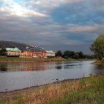 Schloss Pillnitz Wasserpalais mit Elbinsel