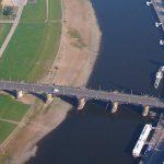 Augustusbrücke Dresden Luftbild