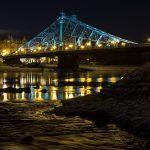 Blaues Wunder Dresden bei Nacht (Loschwitzer Brücke)