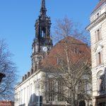 Dreikönigskirche Dresden an der Hauptstrasse
