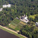 Luftbild der Dresdner Elbschlösser