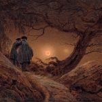 Galerie Neue Meister - Staatliche Kunstsammlung Dresden - Caspar David Friedrich - Zwei Männer in Betrachtung des Mondes
