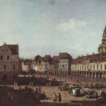 Bernardo Bellotto, genannt Canaletto - Der Neumarkt von der Moritzstraße aus (ca. 1752)