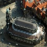 Luftbild Katholische Hofkirche Dresden