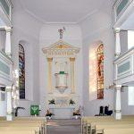 Kirche Maria am Wasser in Dresden - Innenraum mit Altar