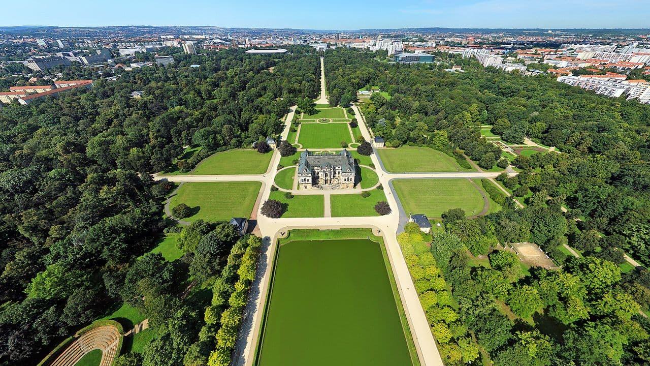 Luftbild Großer Garten Dresden