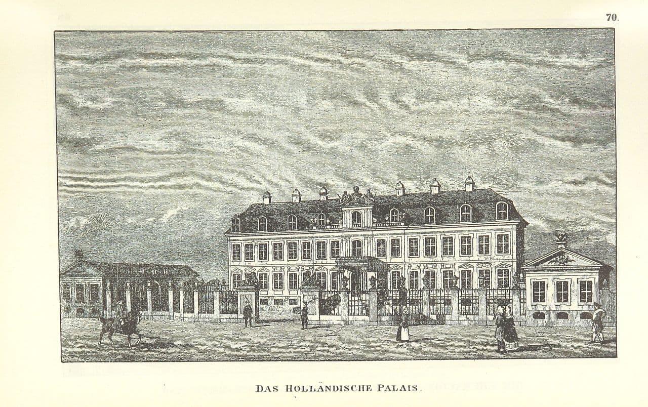 Das Holländische Palais Dresden als ursprünglicher Bau des Japanischen Palais
