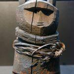 Geist in Bärengestalt mit anthropomorphischem Gesicht. Volk der Nivkh im Amurbecken - Völkerkundemuseum Dresden im Japanischen Palais