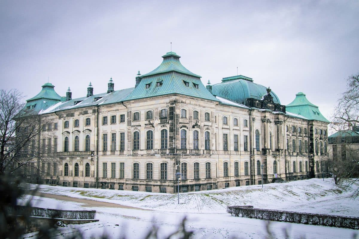Japanisches Palais im Winter