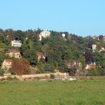 Blick auf die Dresdner Villenviertel Weißer Hirsch und Loschwitz