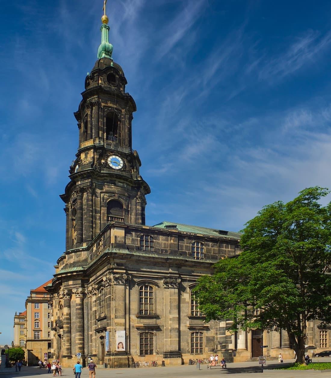 Kreuzkirche Dresden Außenansicht